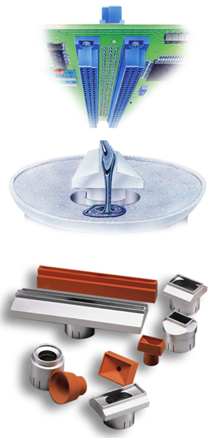Flow Wells for Selective Soldering